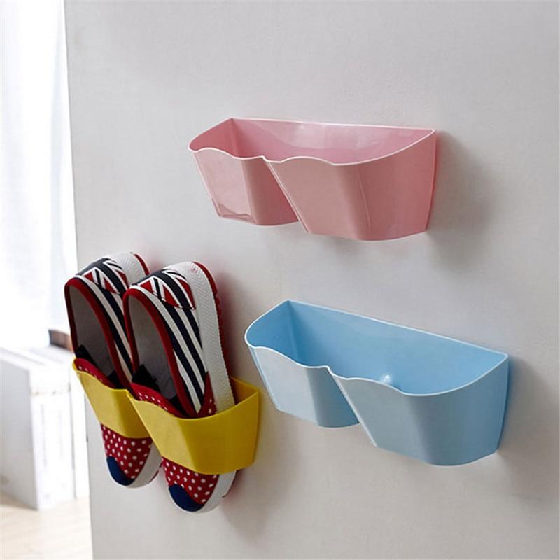 Shoe Shelf New Creative Plastic Stand Cabinet Display Shelf Organizer Wall Rack Shoes storage shelves 2017 Shopping supplies