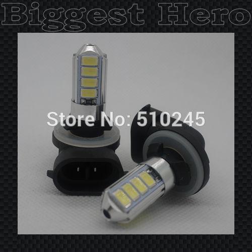 30X Wholesale 881 LED bulb 12 SMD Auto Vehicle 3W 5630/5730 12 SMD LED Heading Car Fog Light Source free shipping