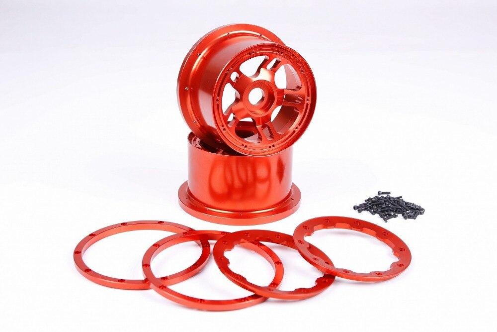 Front Wheel Rim Beadlock Ring Integrated CNC Metal Kit fit for 1//5 HPI BAJA 5B