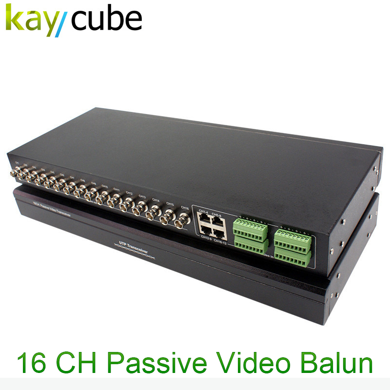 16Ch Passive Utp Video Balun Simultaneously Transmit 16 Channels Of Video Signal Through Cat5 Twisted Pair Cable 16 Transceiver