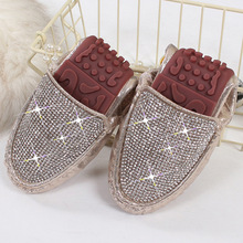 Spring Summer Flats Shoes Women Ballet Shoes For Women Casual Crystal Boat Shoes Slip On Soft Rhinestone Women Flats Plus Size