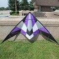 Envío gratis 2015 nuevo listado Outdoor Fun Sports 1.8 m potencia Dual Line truco Kite Flying buena con empuñadura y la línea