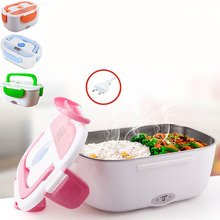 Electric Heating Lunch Box Food Heater Portable Plug Lunch Box Warm Bento Home Office School Stainless Steel Removable Container dmwd mini lunch box stainless steel liner electric heating insulation lunchboxes hot food warmer container meal heater office eu