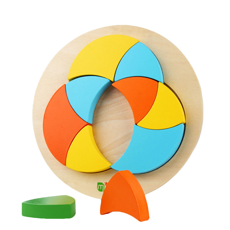 Home Efficient Wooden Montessori Toys Montessori Circle Geometric Puzzle Learning Educational Toys For Toddlers Juguetes Brinquedos Mj1064h