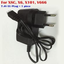 7 4V Li Po Battery Charger EU Plug for MJX X600 X101 for Syma X8C Tarantula