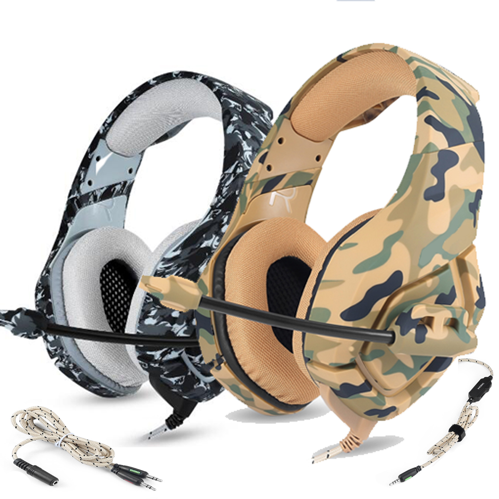 10sets PC Gaming Headset Bass Headphones with Mic for PS4 for New Xbox 1 Switch Computer Mobile Phone Game Earphone Camouflage oneodio stereo gaming headset for phone pc computer headphones with mic over ear noise cancelling for pc ps4 xbox mobile