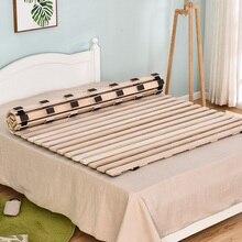 Каркас кровати из твердой древесины на платформе, современный деревянный дизайн, Одноместный матрас для кровати queen King, двойной размер, деревянные планки, поддерживающий матрас