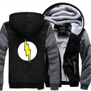 Image 3 - The Big Bang Theory Sheldon The Flash Hoodies Men 2019 Winter Warm High Quality Sweatshirts Thicken Mens Coat Plus Size Jacket