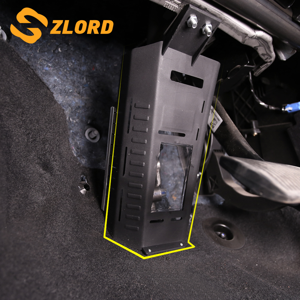 Zlord Car Inner Clutch Pedal Steering Shaft Axle Protection Cover For Ford Focus 3 4 MK3 MK4 Kuga Escape 2012 - 2018 Accessiores