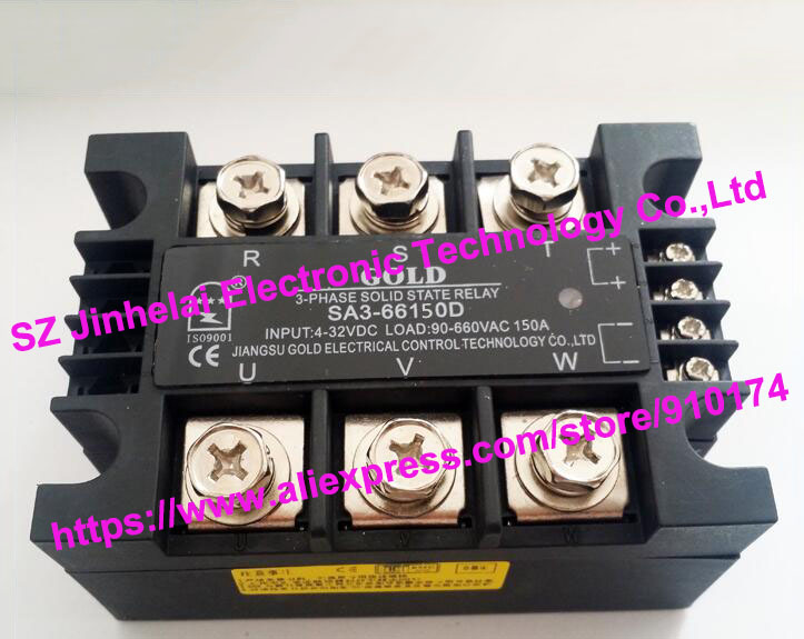 SA366150D(SA3-66150D) GOLD Authentic original SSR 3-phase DC control AC SOLID STATE RELAY 150A new and original sa366150d sa3 66150d gold 3 phase solid state relay ssr 4 32vdc 40 660vac 150a