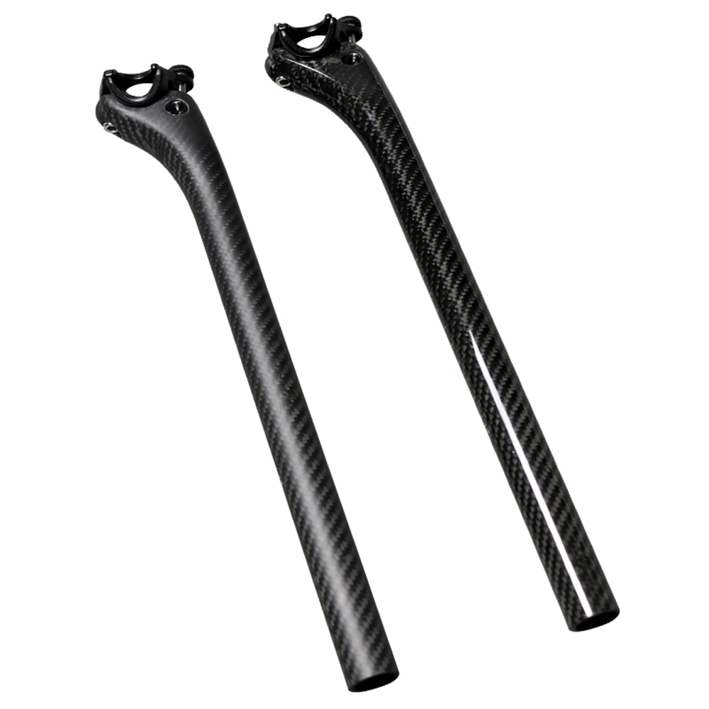 TEMANI Full Carbon Fiber 25.4 27.2 30.8 31.6 350 400mm Bicycle Seatpost MTB Seat post Mountain Bike Seat Tube Bicycle Parts mtb road bike seat post aluminum bicycle seat post bike seatpost mountain bike parts 27 2 31 6 350 400mm