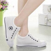 BJYL Vulcanize Shoes Sneakers Women Increase within Canvas Anti Slip Feminino Ladies Zapatillas Mujer Casual B74