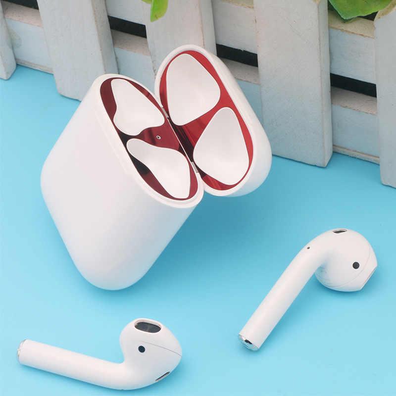 Novo Para A Apple Airpods Folha de Caixa de Proteção Contra Poeira Etiqueta De Metal Misturado Material para Airpods Tampa Interna À Prova de Poeira Acessórios de Patch