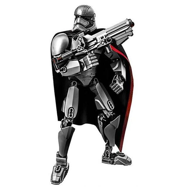 XSZ 605-4 Star Wars 7 Figuras Capitán Phasma Lepin Ladrillos Bloques de Construcción 82 unids La Fuerza Despierta Conjuntos modelos de Juguetes