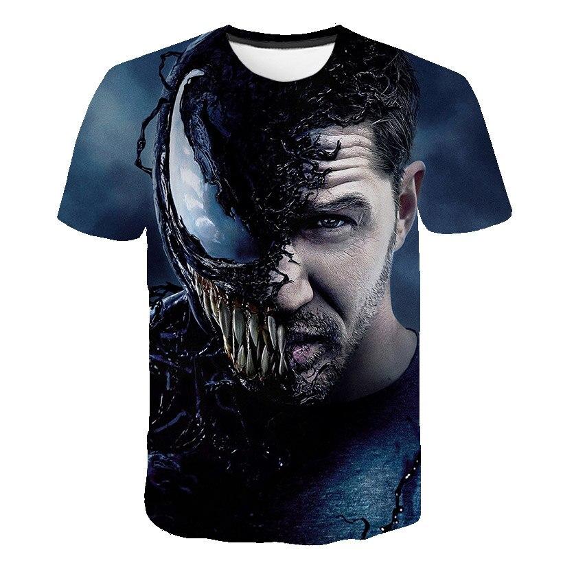 Новейшая футболка Веном с 3D принтом, футболка s для мужчин и женщин, Повседневная футболка с коротким рукавом для фитнеса, футболка Дэдпул, футболки с черепом, топы азиатского размера - Цвет: 1582