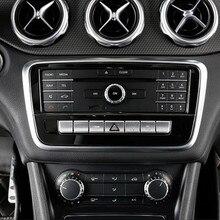 Nero Center Console CD Telaio Copertura Decorazione Assetto Per Mercedes Benz GLA X156 CLA C117 UNA Classe W176 2013- 2018 In Acciaio Inox
