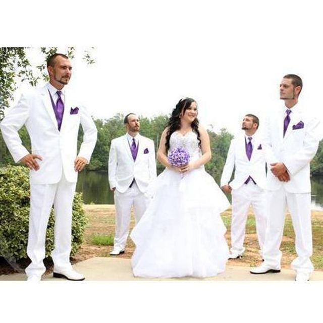 Custom De Pantalon Blanc Slim Et Fit Hommes Made Mariage Costume rAHqfr