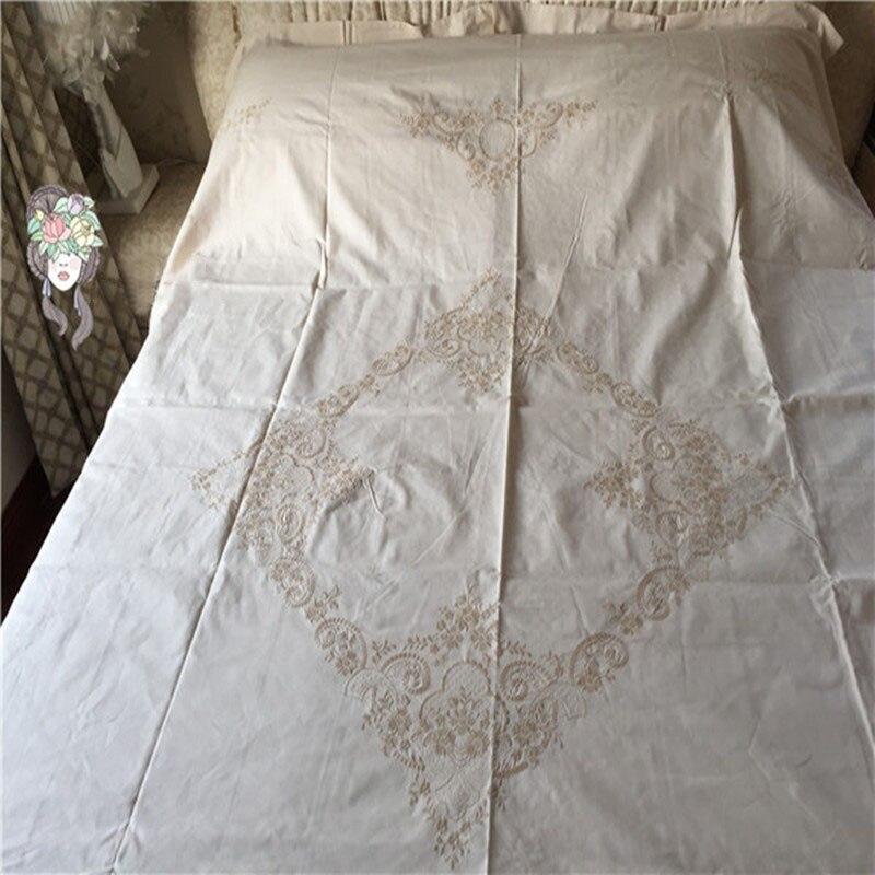 100 cotton bedding set handmade battenburg lace ivory 4pcs sheet pillow case duvet cover queen size
