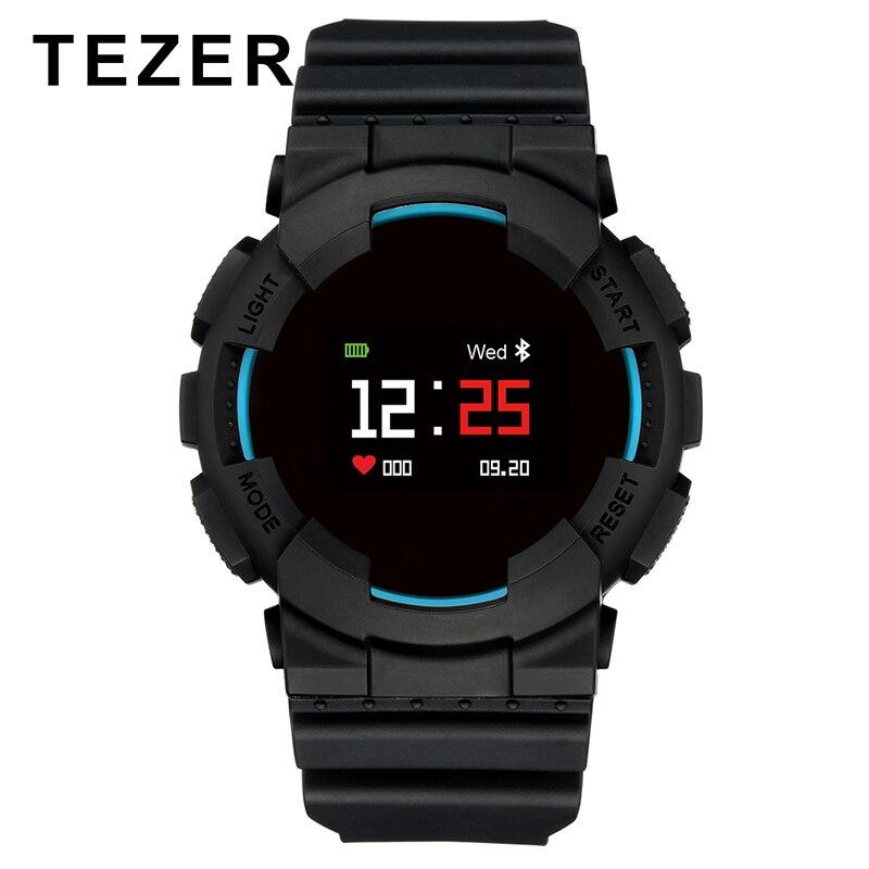 TEZER Intelligents Sport Montre OLED Écran Couleur Coeur de la pression Artérielle Moniteur de Fréquence IP68 Étanche smartwatch pour Android IOS Téléphone