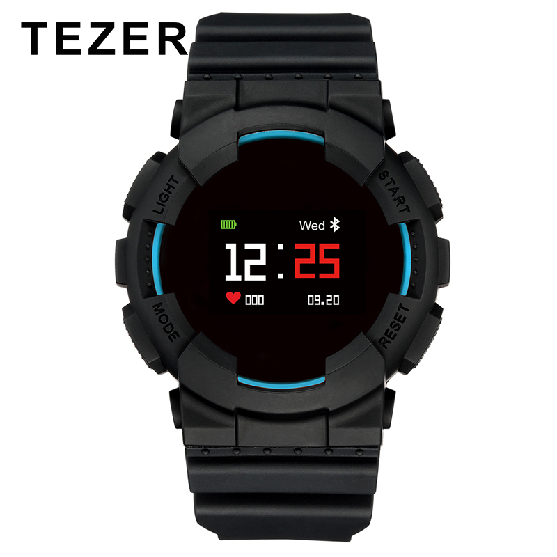 TEZER Smart Sports Watch OLED Color Display Blood pressure Heart Rate Monitor IP68 Waterproof smartwatch for Android IOS Phone new x7 smart watch with heart rate clock ultra long standby ip68 waterproof sports smartwatch message push for android ios phone
