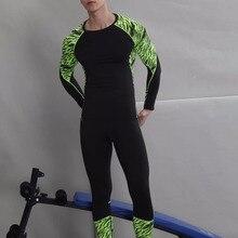 18 термобелье мужские комплекты нижнего белья компрессионное Нижнее белье Мужская одежда для фитнеса