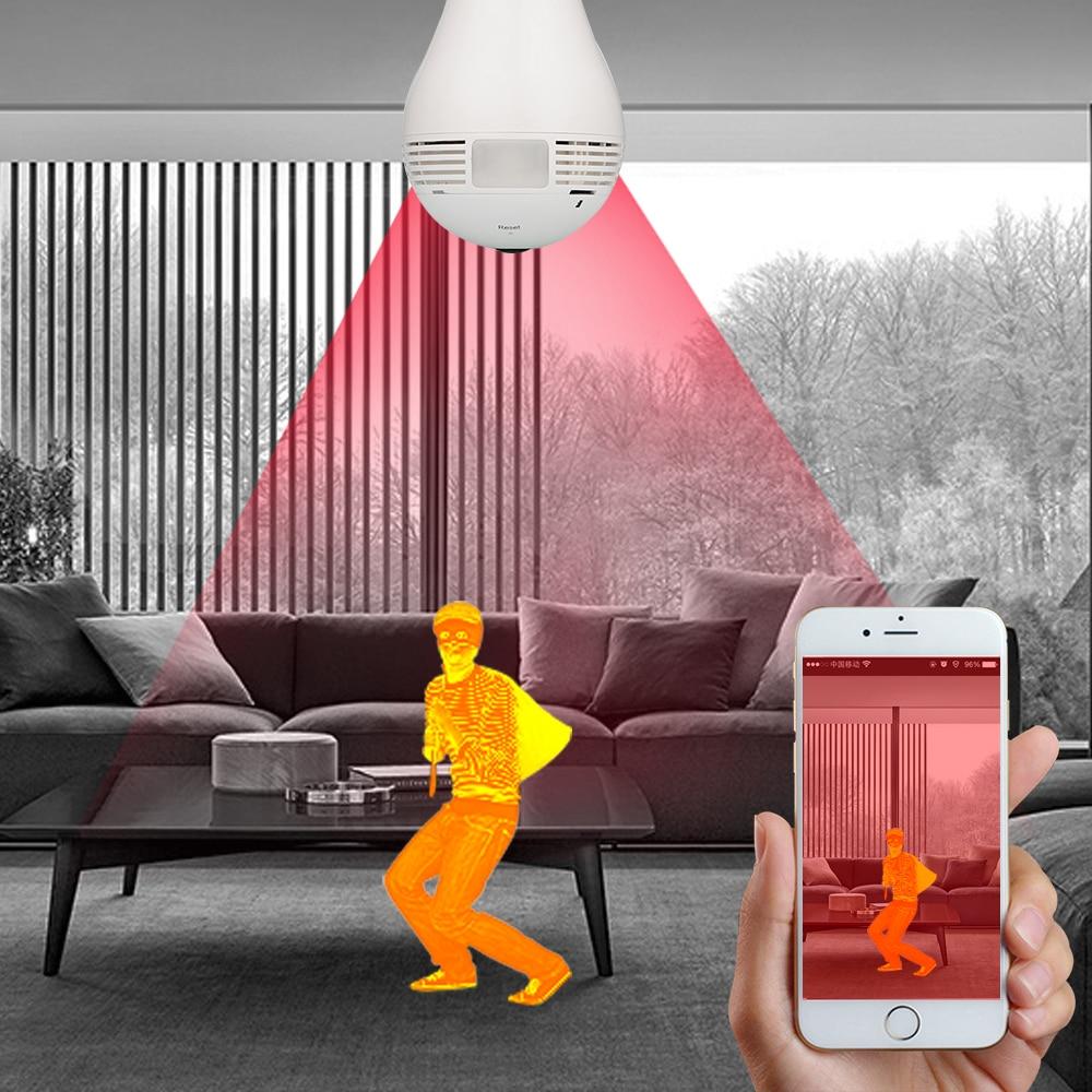 """Lemputė """"IP"""" lemputė, 360 laipsnių vaizdo stebėjimas Vaizdo - Sauga ir saugumas - Nuotrauka 3"""