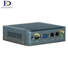 Хорошо продажи Безвентиляторный мини-компьютер с ТВ коробка J1900 4 ядра 2 ГГц Процессор 2 * LAN 1 * VGA 1 * HDMI 3 * USB 3.0 1 * USB2.0 1 * MIC I * линейный выход