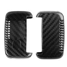 Carbon Fiber Car Remote Flip Key Fob Case Smart Cover Shell Fits for Land Rover car accessories new(China)