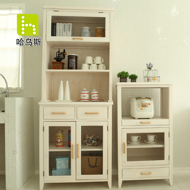European Pastoral Retro Wood Kitchen Cabinets Cupboards