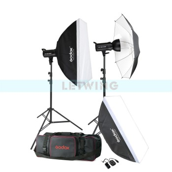 Godox SK400 800W Compact Photo Studio Flash Lighting set (2 x 400W) Digital Photography Strobe Light & Softbox Portrait Kit