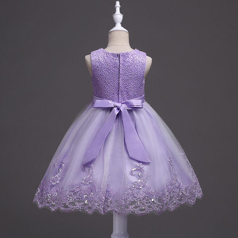 CAILENI Girls Dress Rose Flower Baby Wedding Party Dresses Children Birthday Frocks Formal Kids Ball Gowns Clothes for Girl in Dresses from Mother Kids
