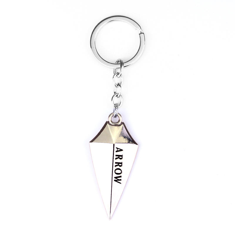 Hot Movie Green Arrow Keychain High Quality Fashion Geometric Vintage Arrow Llaveros Men and Women Chaveiros in Key Chains from Jewelry Accessories