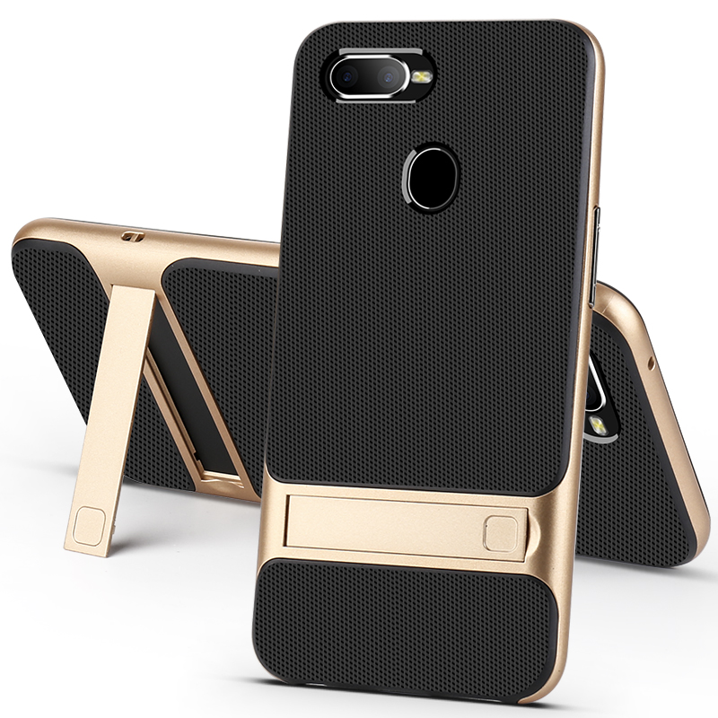 check out 997fd 9cc5a Mobile Case Back Cover For OPPO F7 F9 Pro Case Cover 3D Stand 360  Protective Hybrid Silicone Phone Cases For Oppo F9 Cute Bag