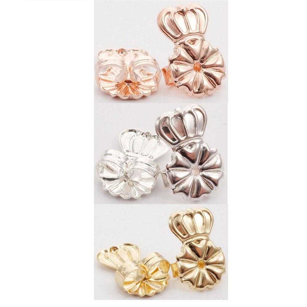 BeUrSelf Metal Crown Earring Lifters Butterfly Backs Support Hypoallergenic Fits Post Earring Back New Design Jewelry For Women