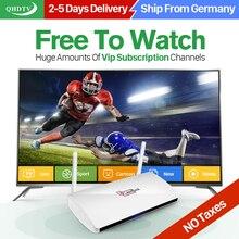 (Buques de Alemania) Caja del IPTV árabe Leadcool QHDTV Suscripción IPTV Smart TV Caja 1 Año 1300 Canales Europa Francés UNIDO IPTV Caja