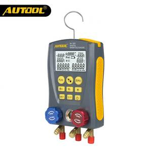 AUTOOL LM120 Refrigeration Manifold Digital Table HVAC Auto Cold Medium Pressure Temp Car Air Conditioning Tester PK Testo DY517