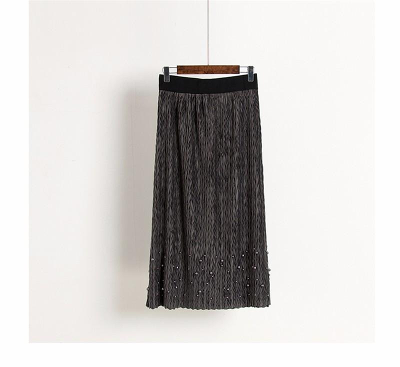 women velvet skirt 03