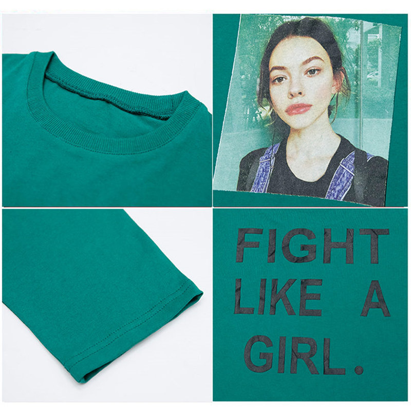 Купить с кэшбэком Princess Long Style T-shirts for Girls Letter Print Side Slit Kids T Shirt for Girls Spring Autumn Tee Tops White Green Color
