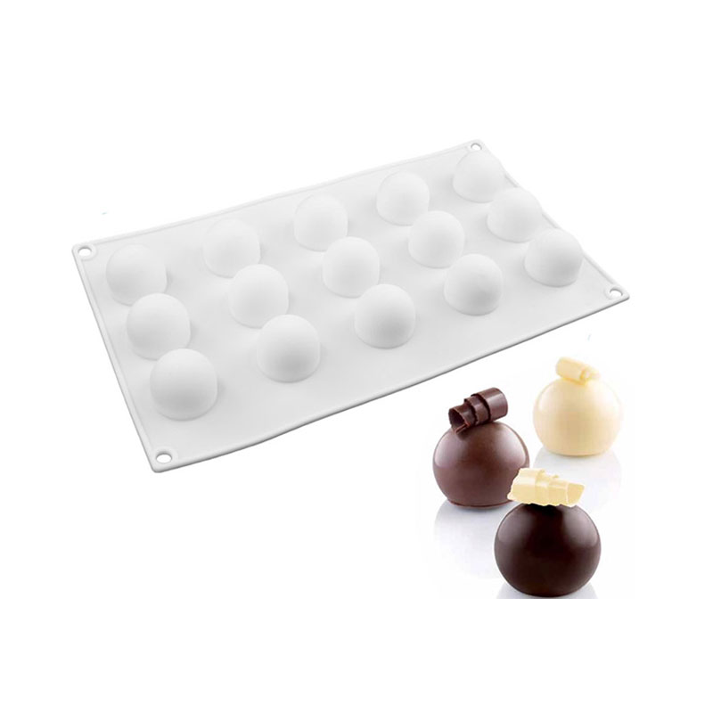 1 PCS Silikon Round Round Ball Mini Truffles Cake Decorating Mögel För Chocolate Muffin Tvål Torte Dessert Baker Tools