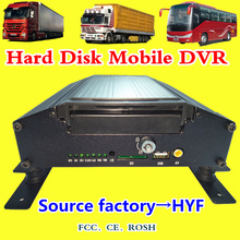 AHD720P 4CH hard disk and SD card MDVR support 1T shockproof on-board monitoring host with large storage space