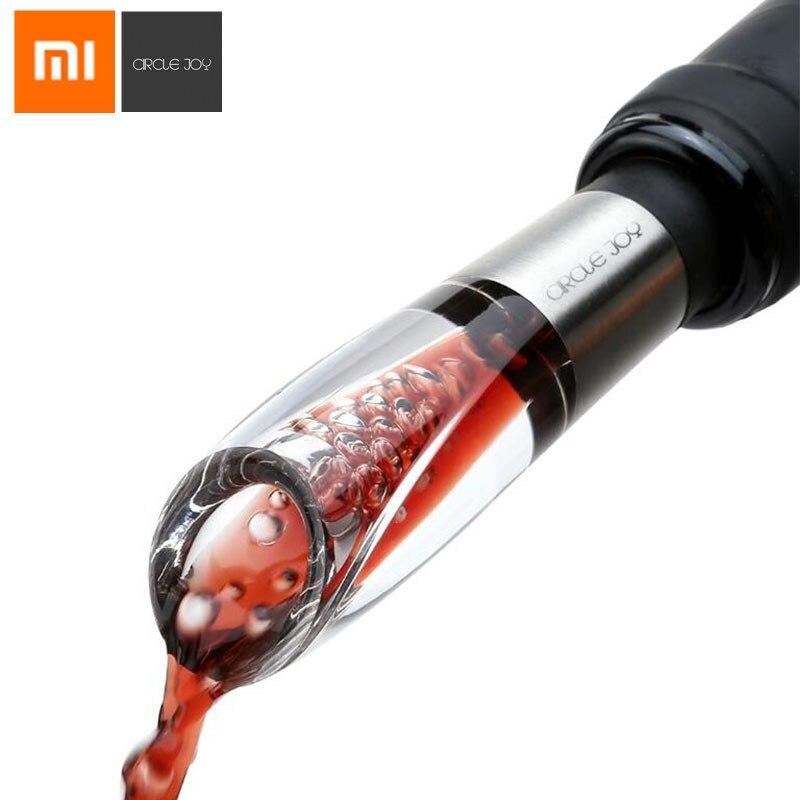 Xiaomi originais de Aço Inoxidável CÍRCULO ALEGRIA Rápido Decanter Decanter Wine Red Mini Vinho Aerador Filtro de Admissão de Ar Para Bar Em Casa