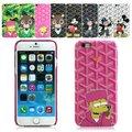 Gyd rocha bonito dos desenhos animados capa de couro de luxo da marca de luxo tampa do telefone móvel para o iphone 7 7 plus 6 6 s 6 mais 6 splus