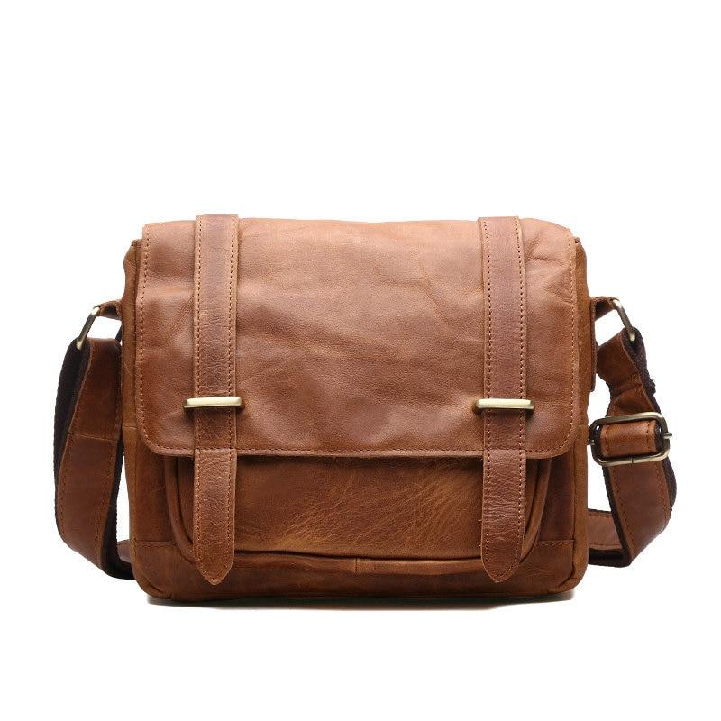 BILLETERA Genuine Leather Men font b Handbags b font Cowhide Casual Business Shoulder Messenger Bags Male