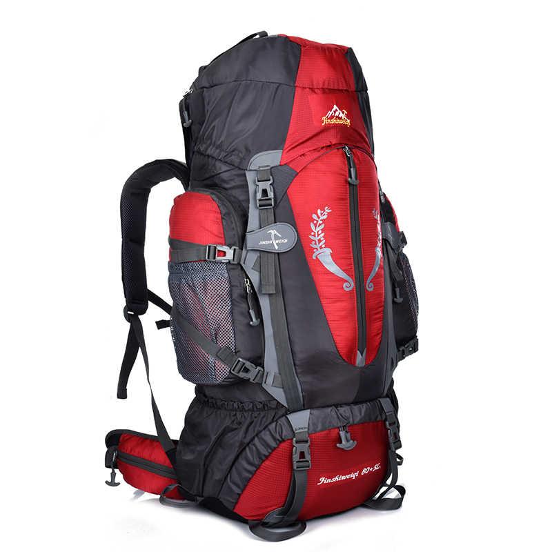 2f614c26562e 85L Large Outdoor Multipurpose Climbing Backpack Travel Hiking Big Capacity  Rucksacks Nylon Camping Waterproof Sports Bags