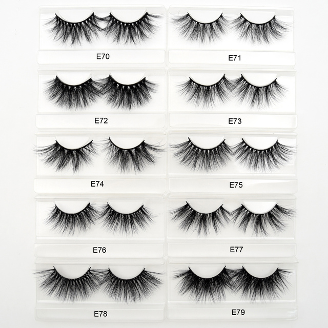 Visofree Eyelashes Mink Eyelashes Criss-cross Strands Cruelty Free 3D 25mm Lashes Mink Lashes Soft Dramatic Eyelashes E80 Makeup 2