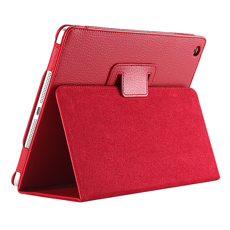 Business Flip Litchi Leather Case Smart Stand Holder For Apple ipad2 3 4 Magnetic Auto Wake Up Sleep CoverRed original 98
