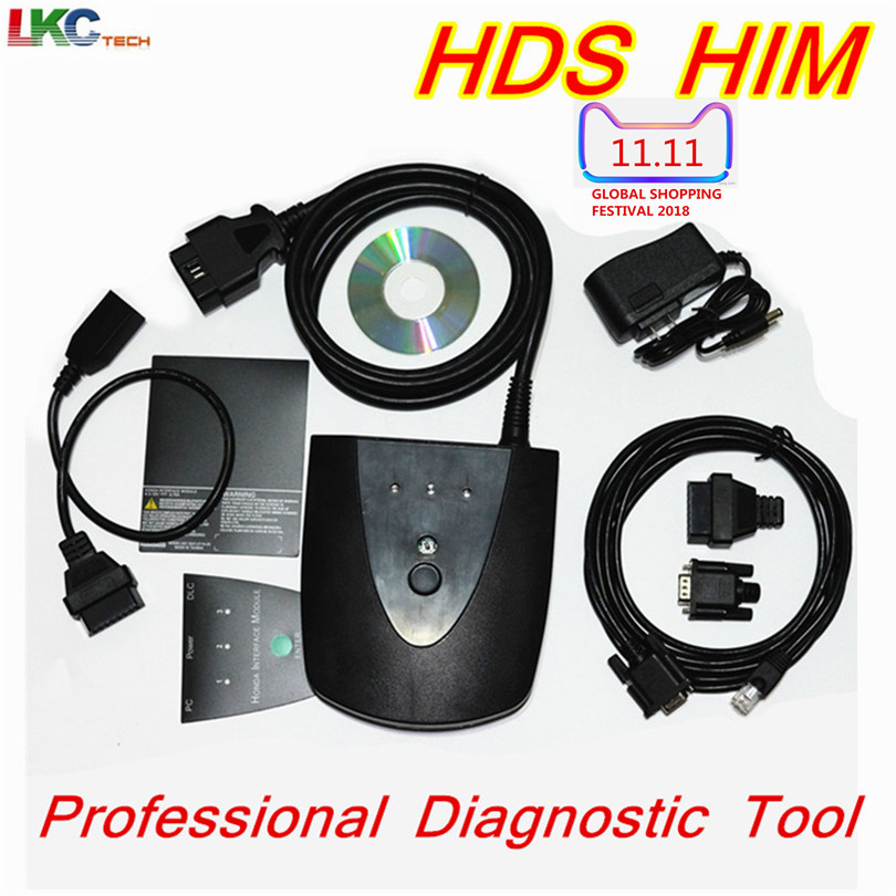 цена For Ho//n--da HDS HIM Newest V3.101.015 Professional OBD2 Diagnostic Tool for Ho//n--da HDS Scanner HIM HDS Cable