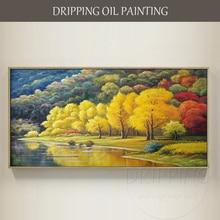 Художественная ручная роспись высокое качество современный пейзаж картина маслом на холсте Ручная роспись природа пейзаж картина маслом