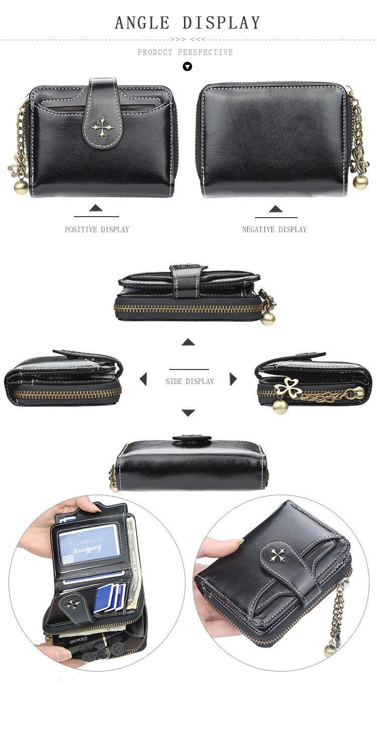 Wallet Women PU 2019 Credit Card Holder Zipper Wallet Short Coin Purse For Cards Purse Portefeuille Zip Card Short Clutch Money
