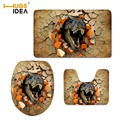 HUGSIDEA 3D Животные Динозавр ванная комната мягкий чехол для унитаза набор туалет крышка напольный коврик Домашний декор ковры для ванной 3 шт./...